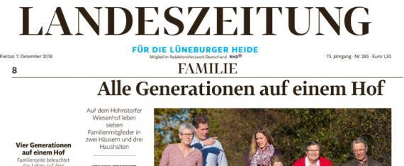 Landeszeitung Lüneburg Familienserie