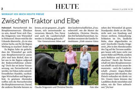 Lüneburger Landeszeitung vom 11.07.2018