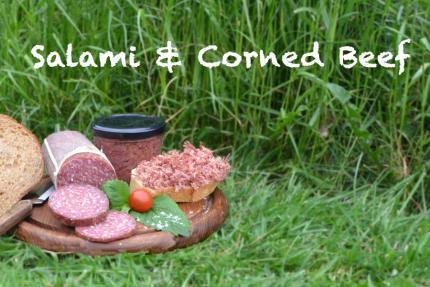 Salami und Corned Beef vom Angus-Rind